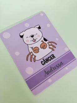 Mouse Pad Câncer Cachorro Personalizado com Seu Nome