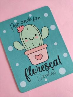 Mouse Pad Floresça Personalizado com Nome