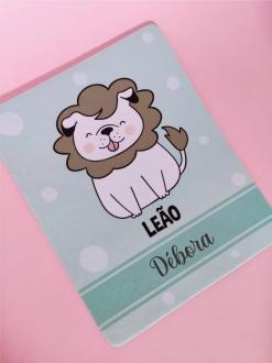Mouse Pad Leão Cachorro Personalizado com Seu Nome
