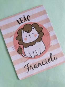 Mouse Pad Leão Personalizado com Seu Nome