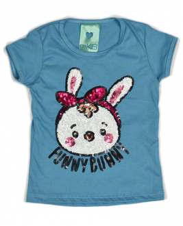 T-Shirt Bunnies Azul Kids