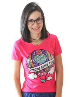 T-shirt Dreams Come True Pink
