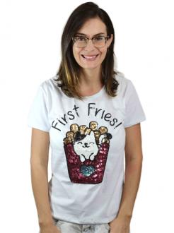 T-shirt First Fries Branca