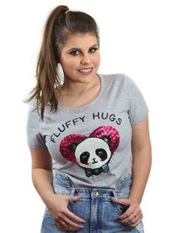 T-shirt Fluffy Hugs Mescla