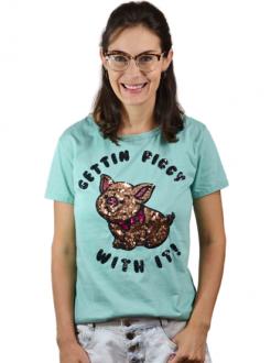 T-shirt Gettin Piggy Mint