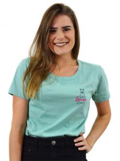 T-shirt Llamastê Bordadinho Mint