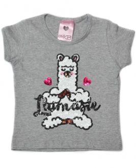 T-Shirt Llamaste Mescla Kids