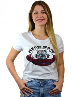 T-shirt Meow Wars Branca