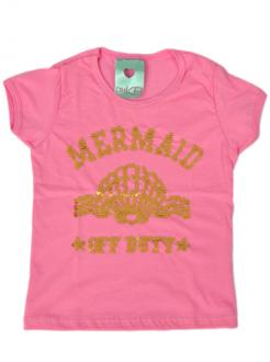 T-Shirt INFANTIL Mermaid Rosa Kids