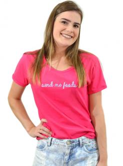 T-Shirt Send Me Foods Pink
