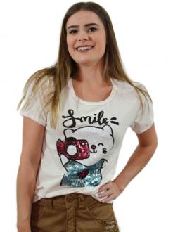 T-shirt Smile Off White