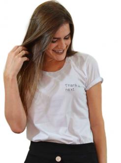 T-shirt Thank U Next Branca