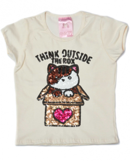 T-Shirt Think Outside The Box Off White Kids
