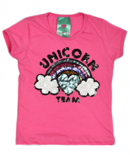 T-Shirt Unicorn Team Rosa Kids