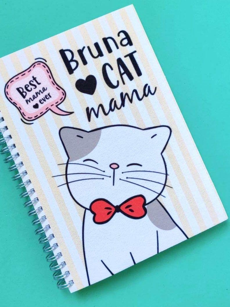 Agenda Cat Mama Personalizada com Nome