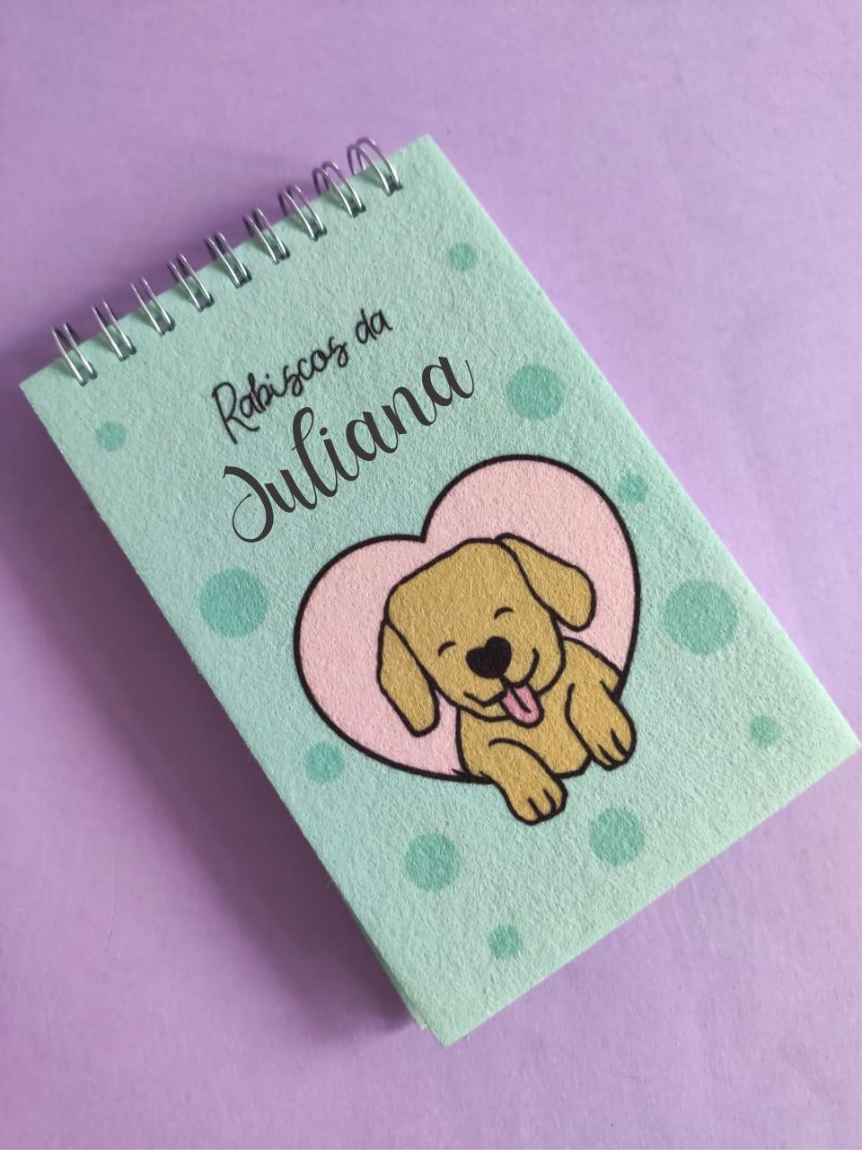 Bloquinho Dogs Make Me Happy Personalizado com Nome