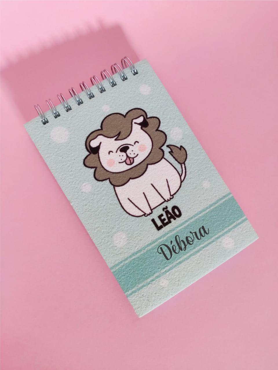 Bloquinho Leão Cachorro Personalizado com Nome
