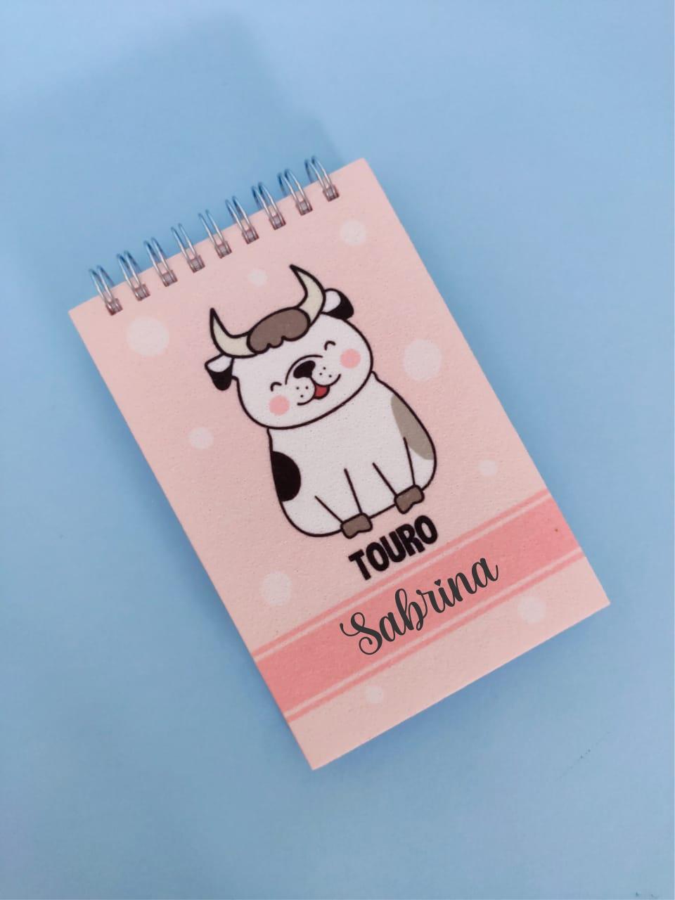 Bloquinho Touro Cachorro Personalizado com Nome