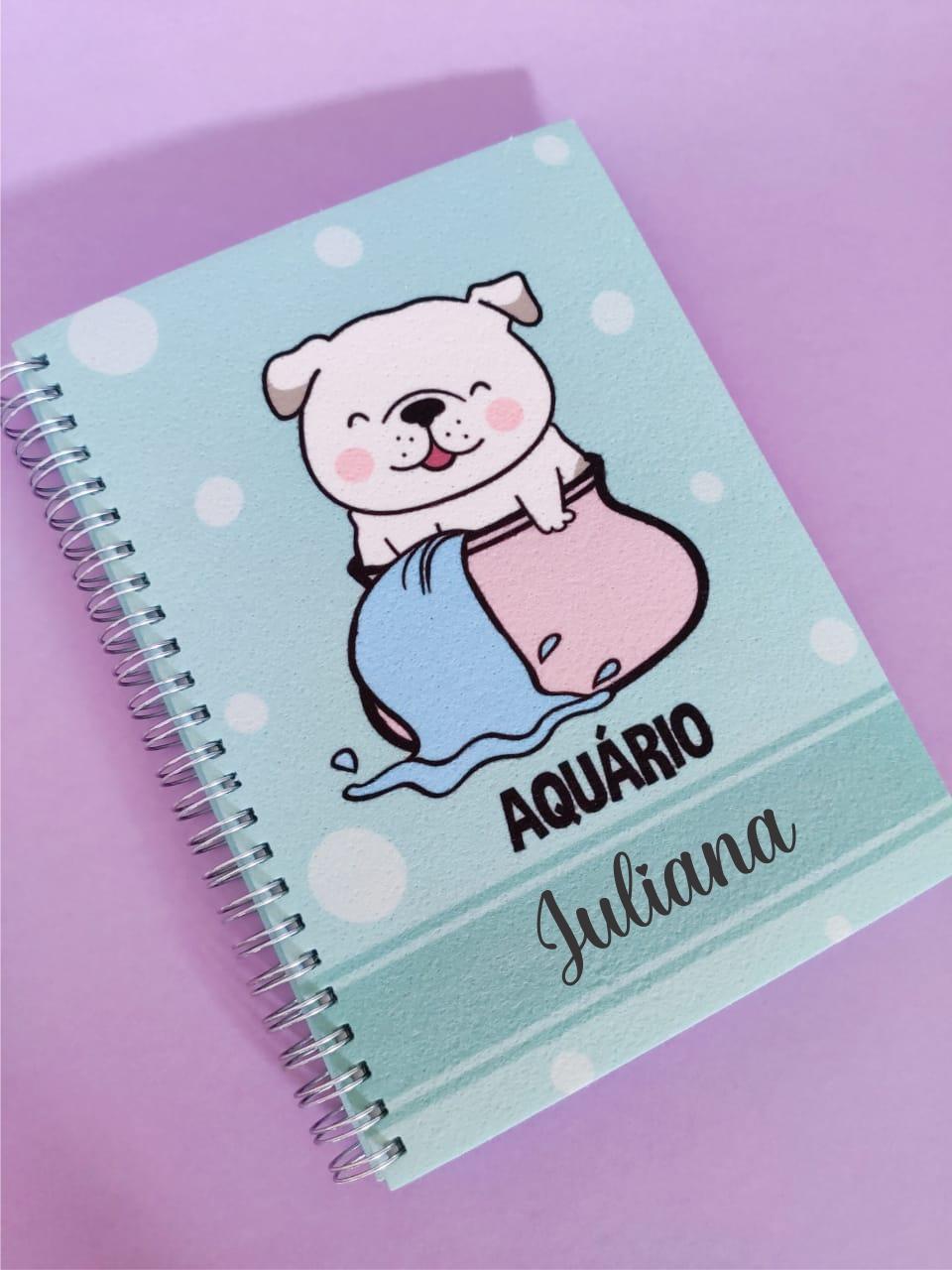 Caderno  Aquário Cachorro Personalizada com Nome