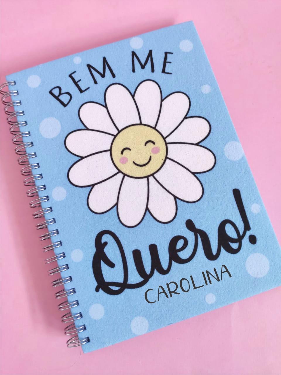 Caderno Bem Me Quero Personalizado com Nome