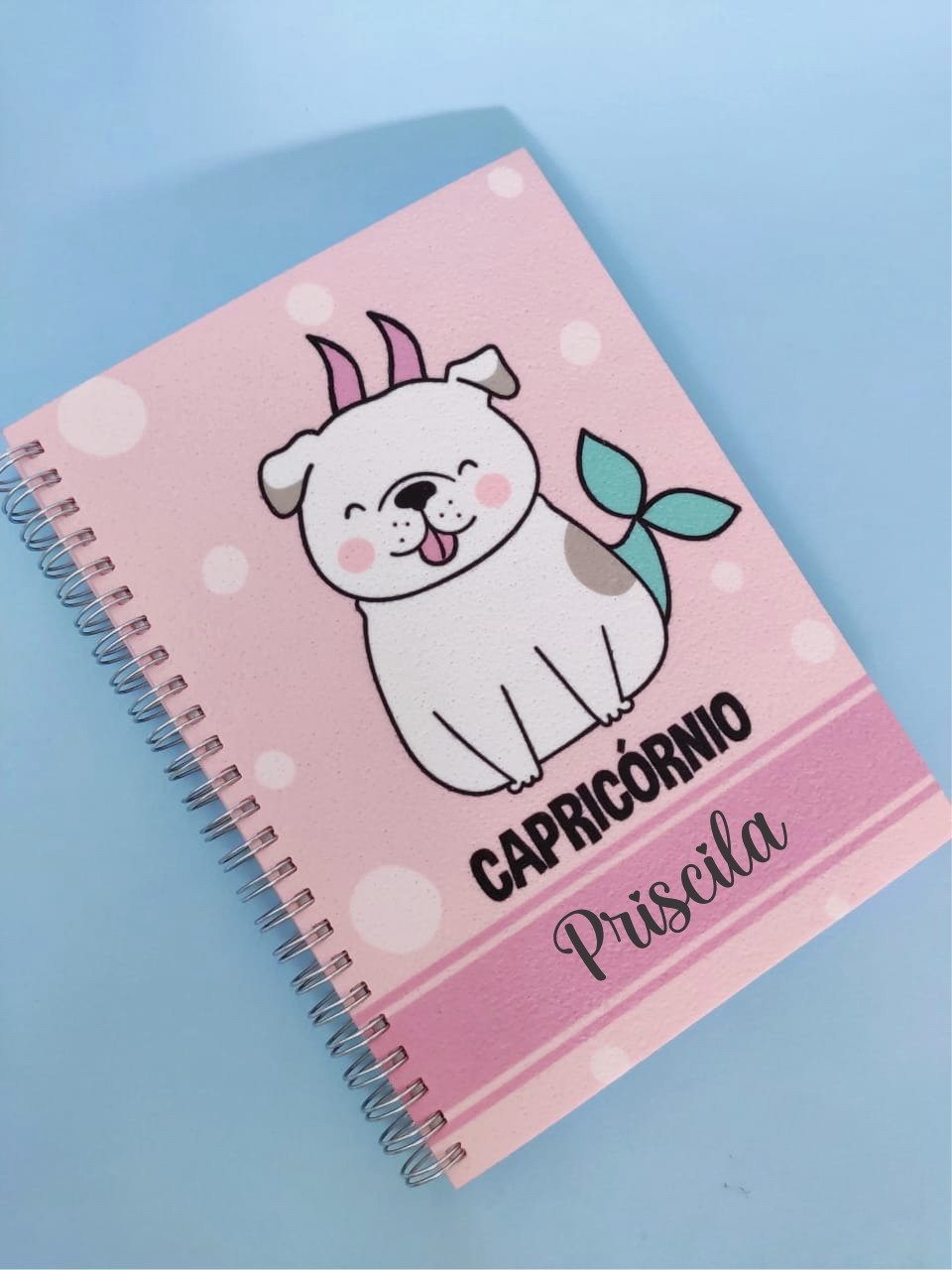 Caderno Capricórnio Cachorro Personalizado com Nome