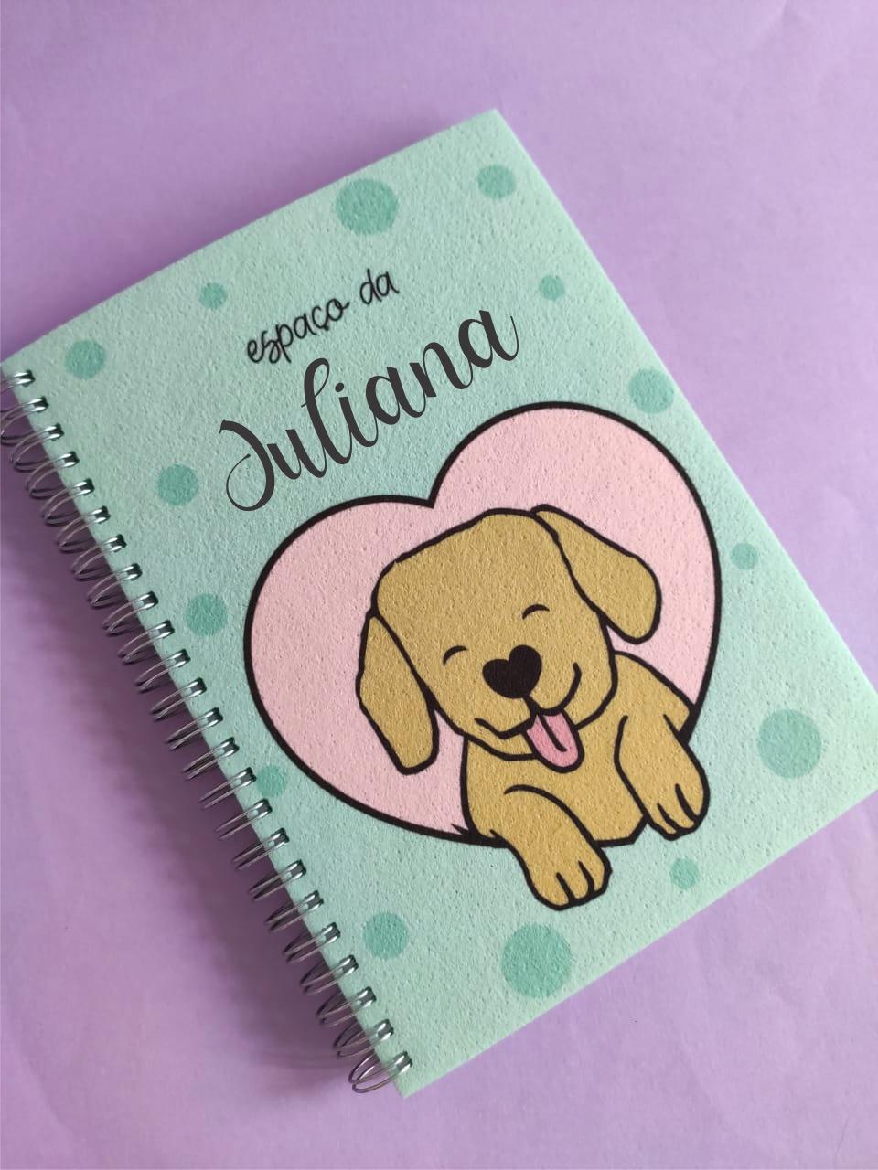 Caderno  Dogs Makes Me Happy Personalizado com Nome