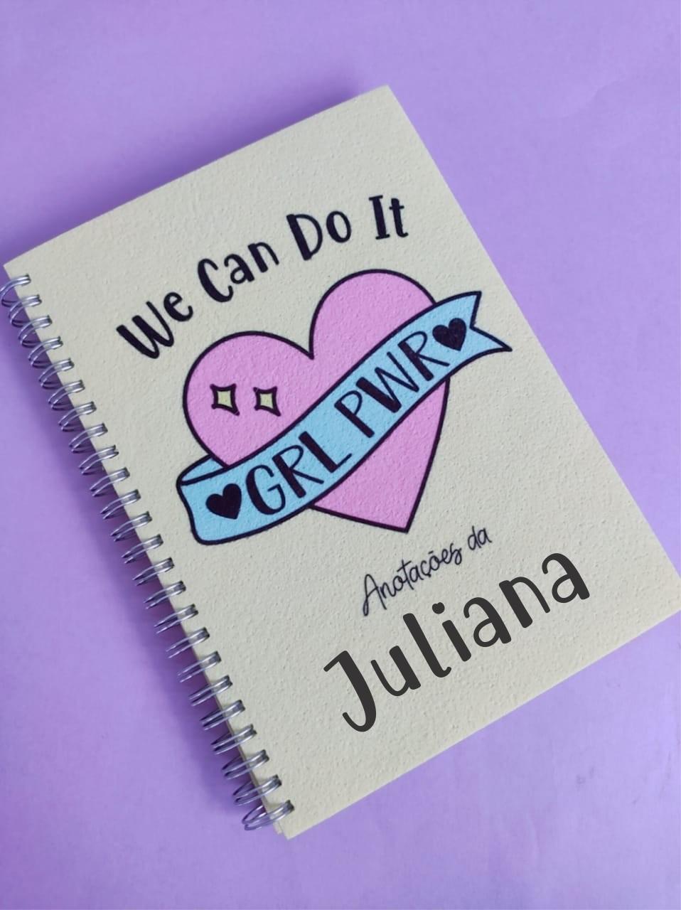 Caderno Girl Power Personalizado com Nome