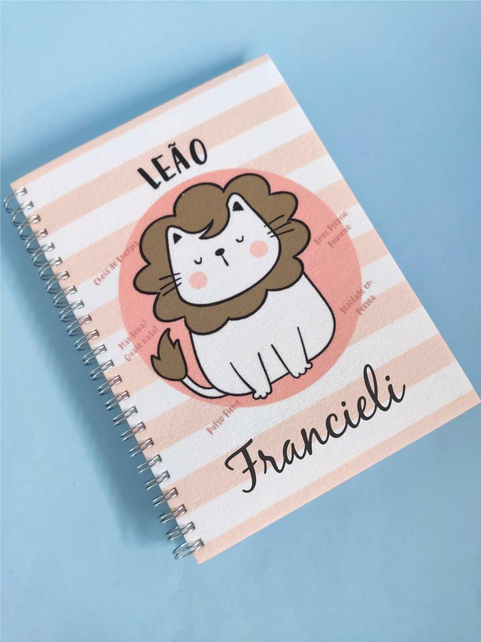 Caderno  Leão Personalizada com Nome