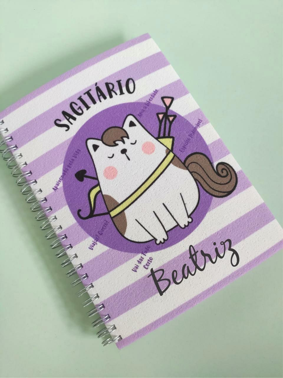 Caderno Sagitário Personalizado com Nome
