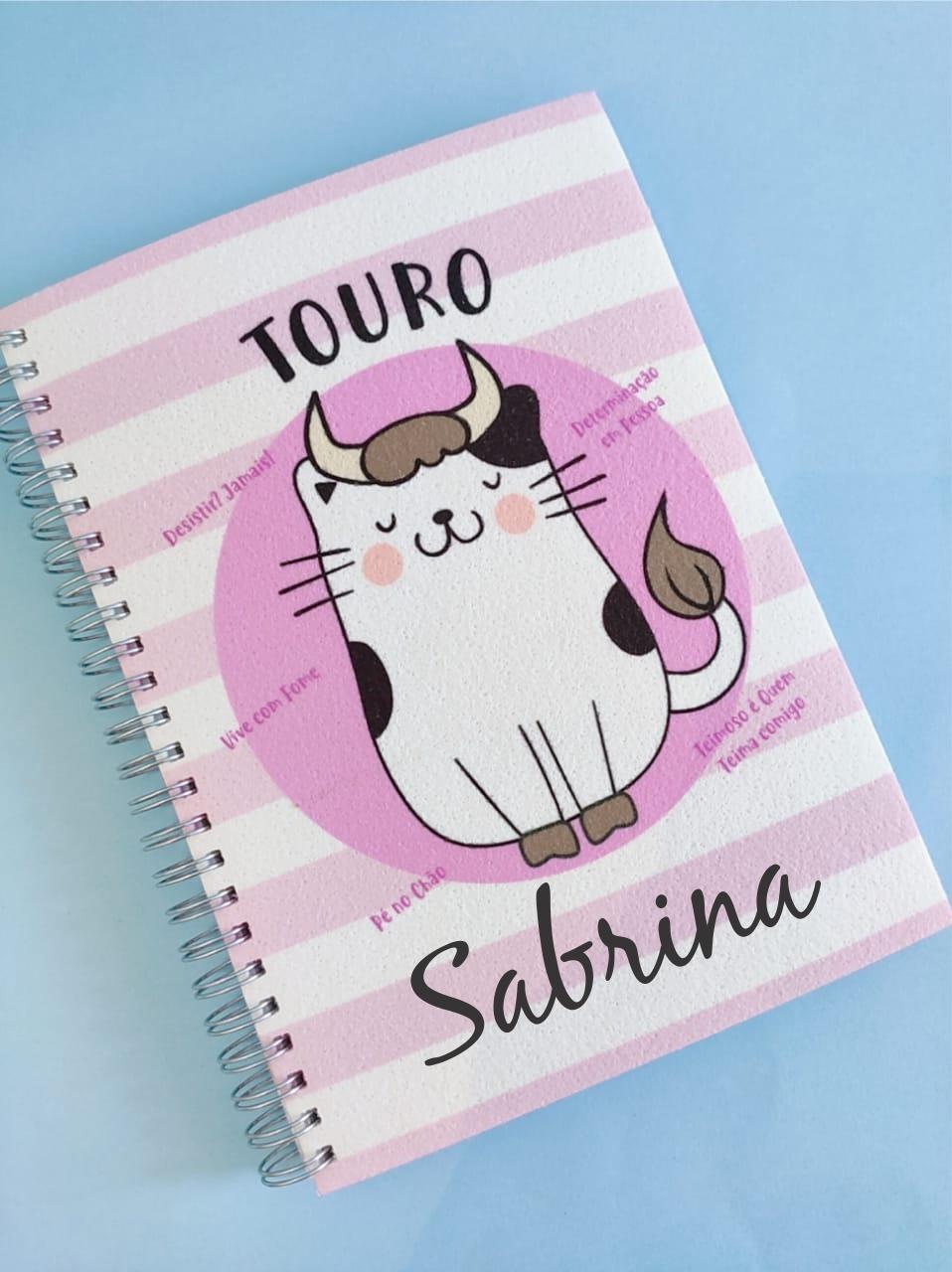 Caderno Touro Personalizada com Nome