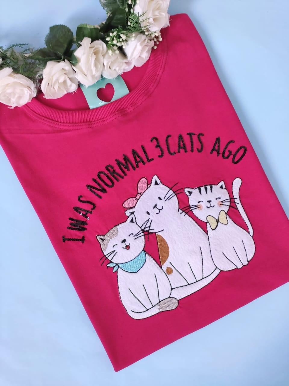 Camiseta 3 Cats Ago Rosa Choque