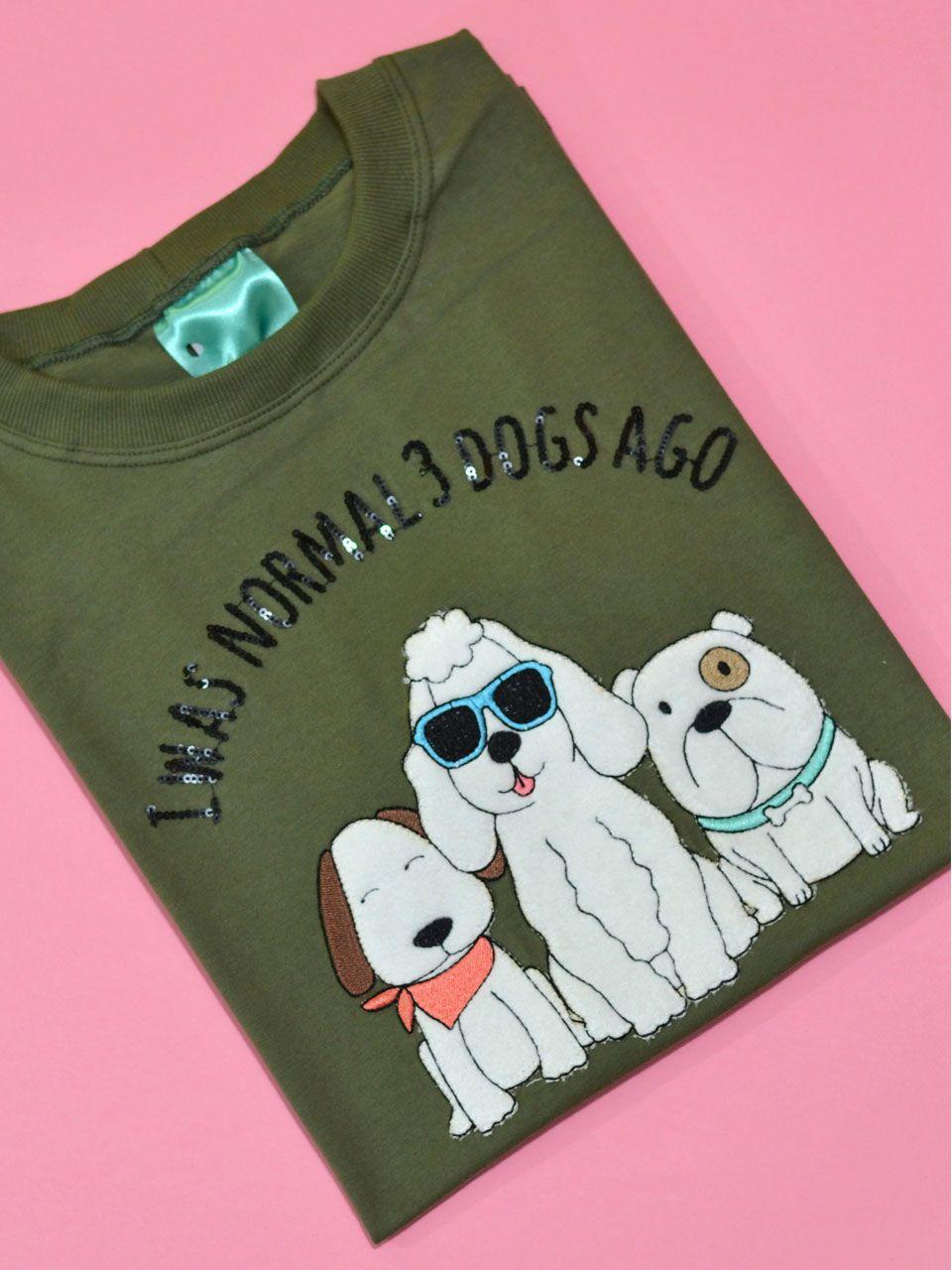 Camiseta 3 Dogs Ago Verde