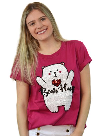Camiseta Bear Hug Burgundy