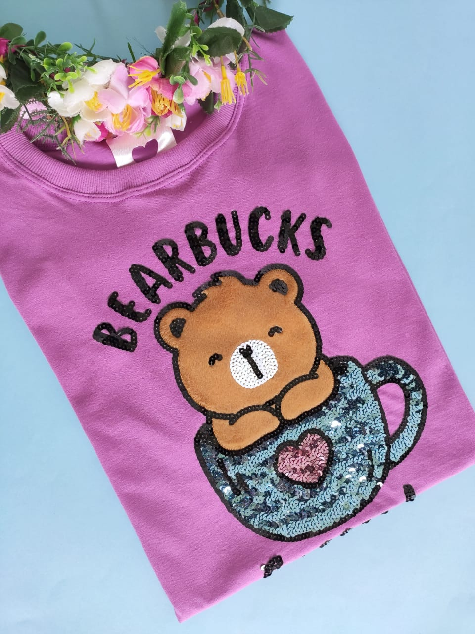 Camiseta Bearbucks Coffee Roxo