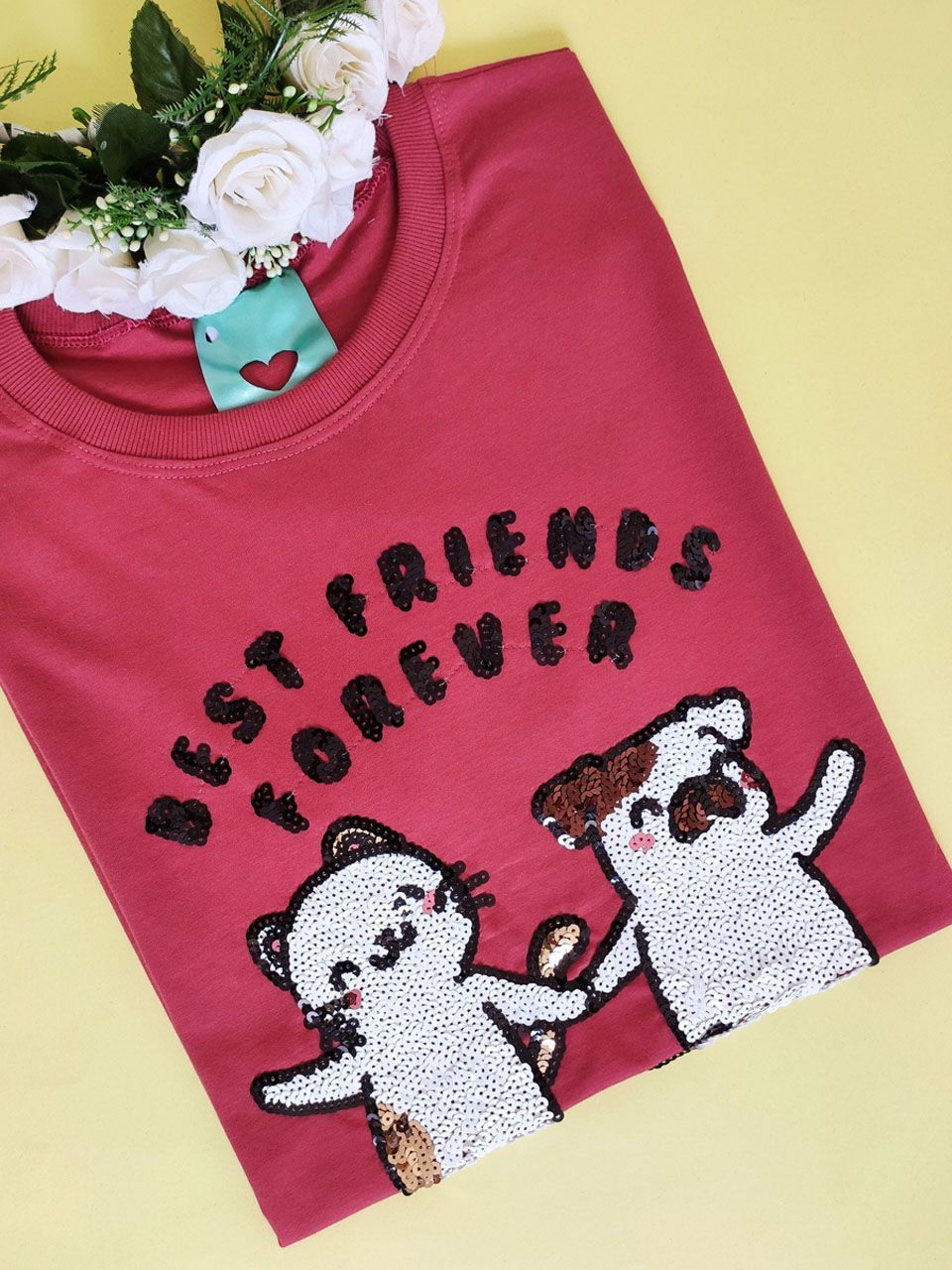 Camiseta Best Friends Ferrugem