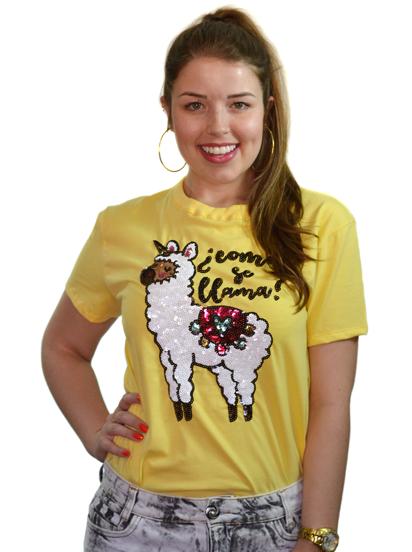 Camiseta Como Se Llama Amarela