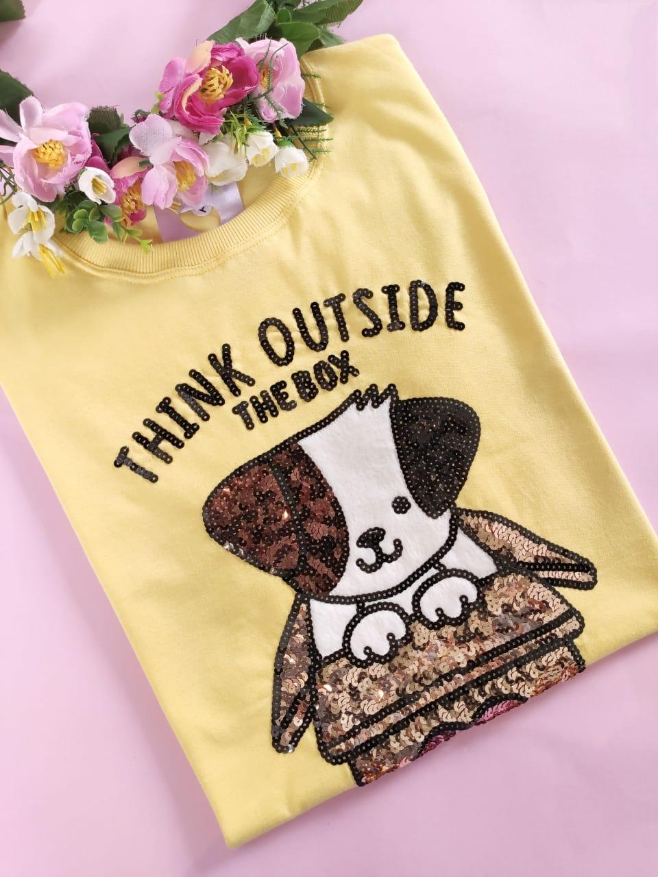 Camiseta Dog Box Amarelo