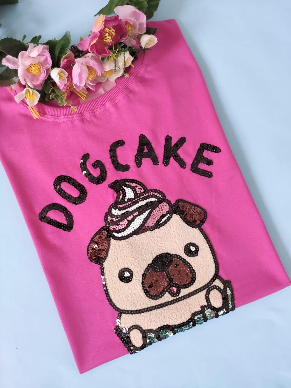 Camiseta Dog Cake Pink