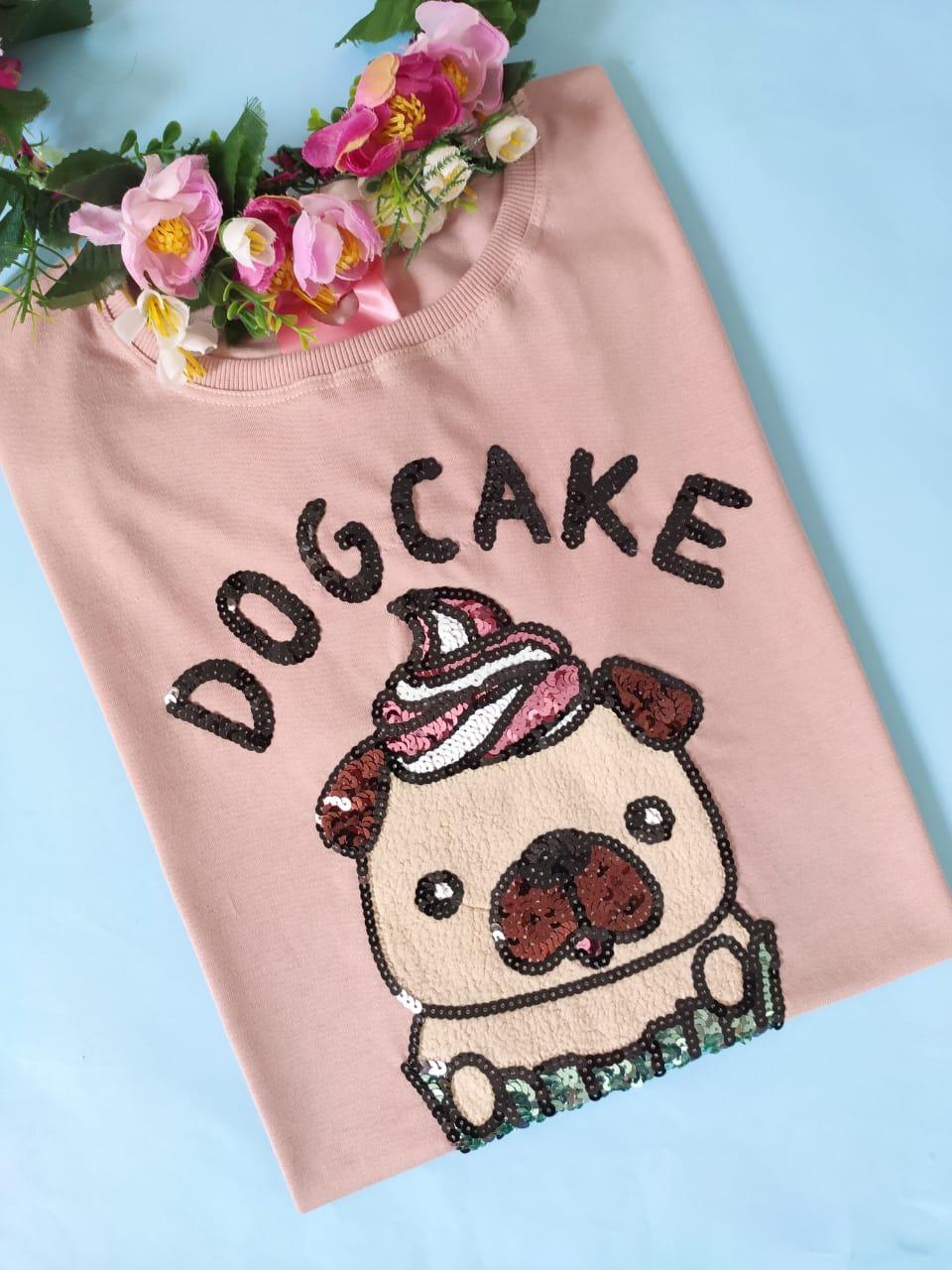 Camiseta Dog Cake Rosê