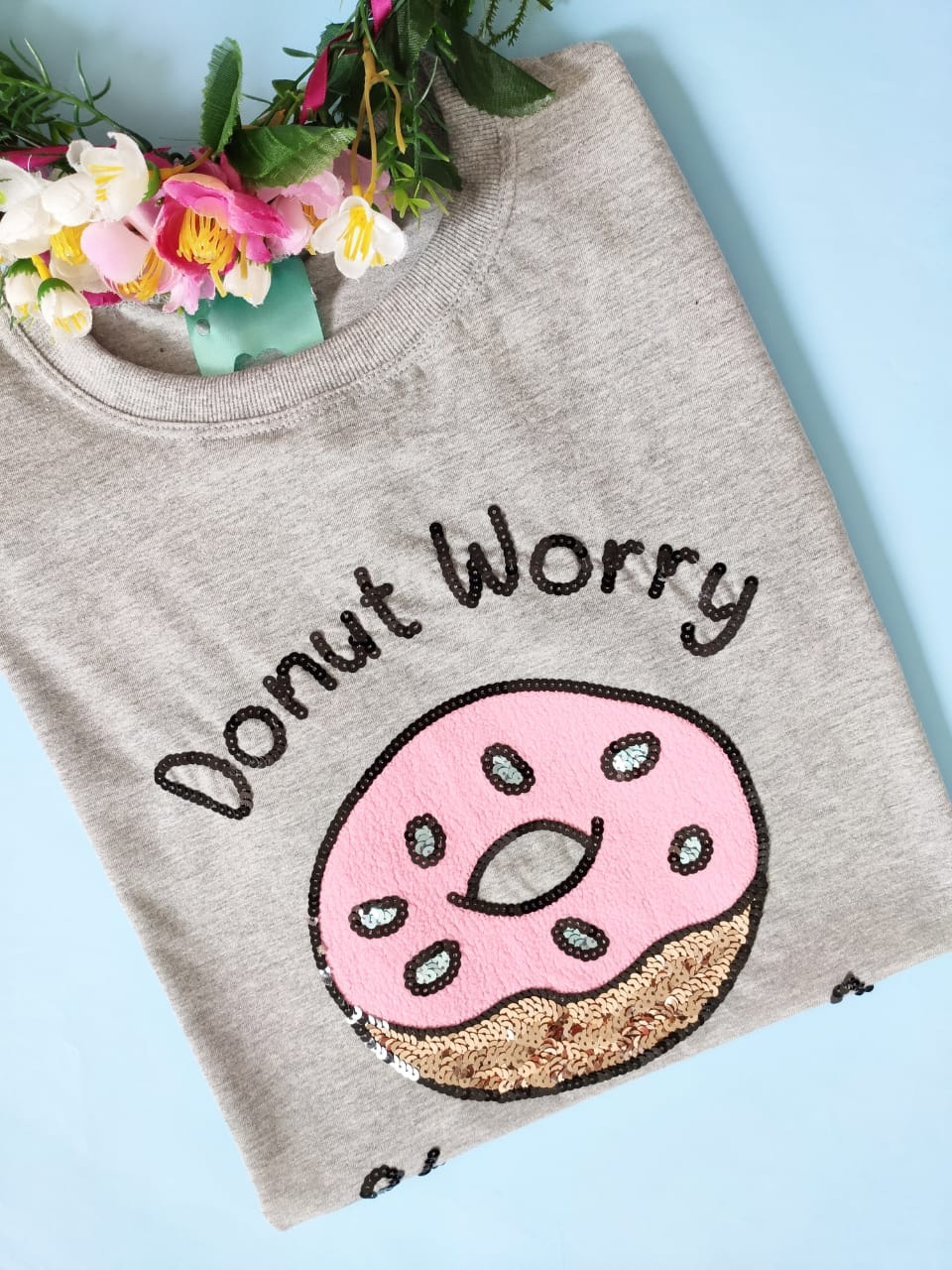 Camiseta Donut Worry Mescla Médio