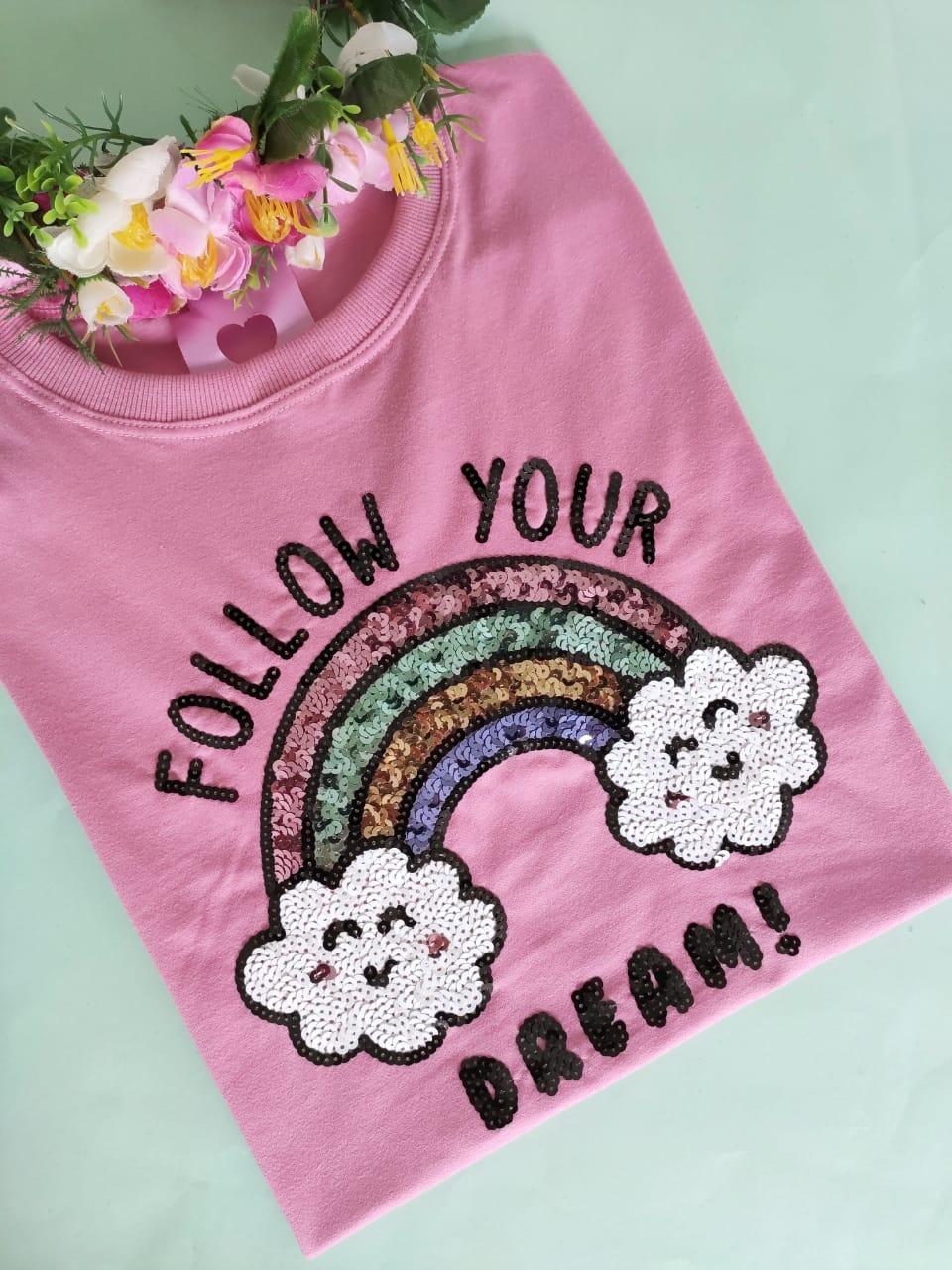 Camiseta Follow Your Dream Rosa