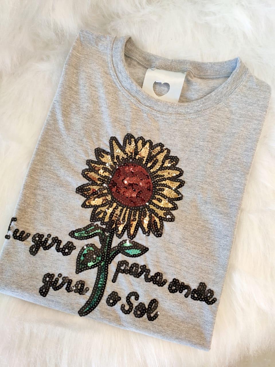 Camiseta Girassol Mescla Médio