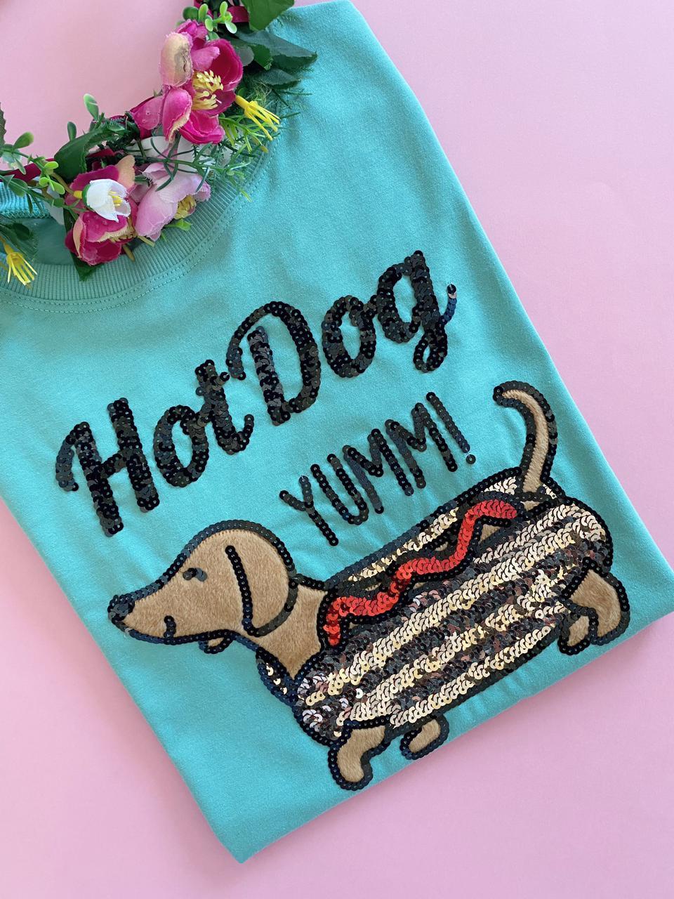 Camiseta Hot Dog Verde