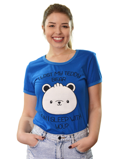 T-shirt I Lost My Teddy Bear Azul
