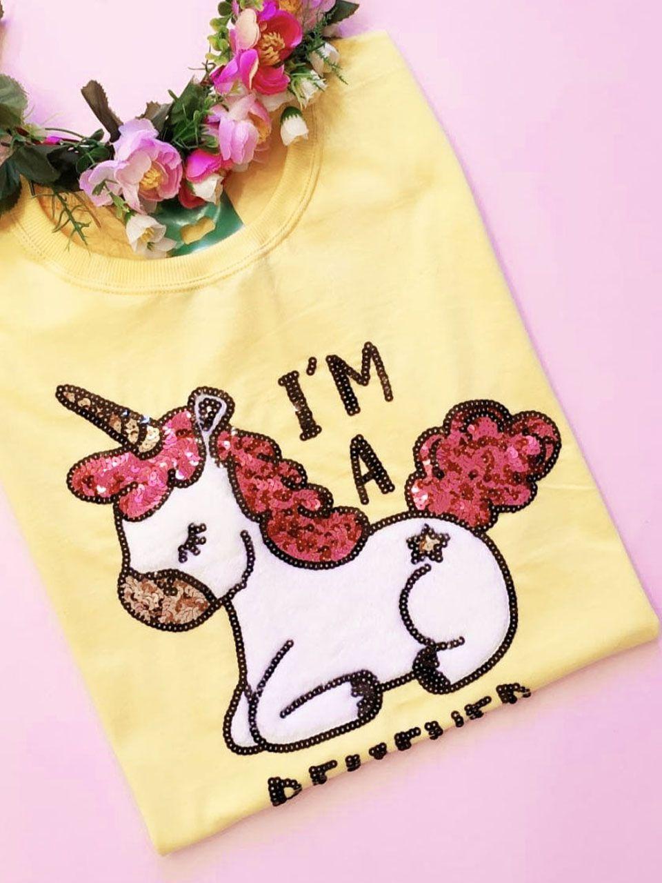Camiseta I´m a Believer Amarela