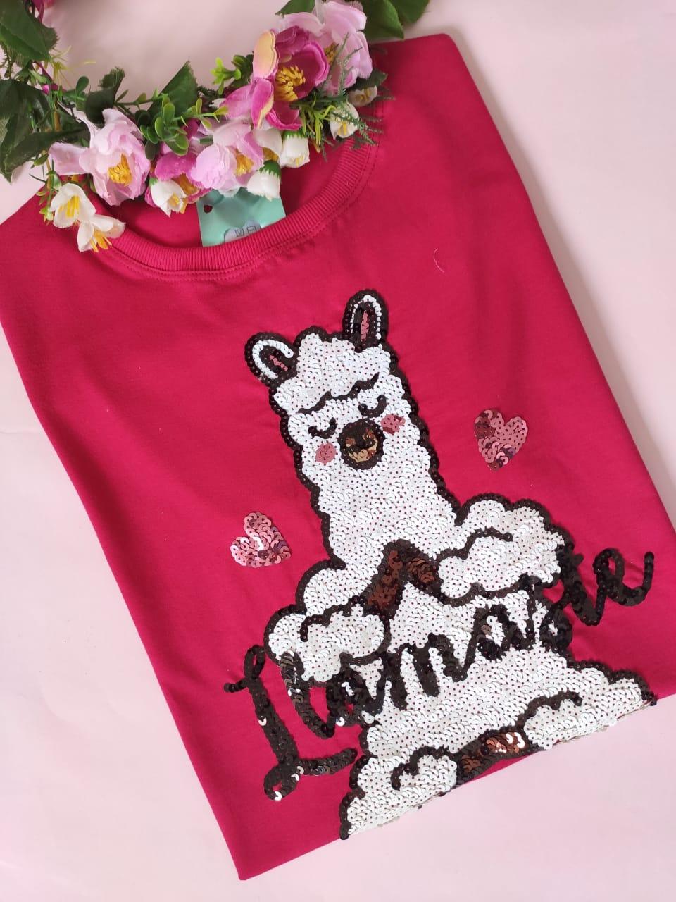 Camiseta Llamaste Rosa Choque