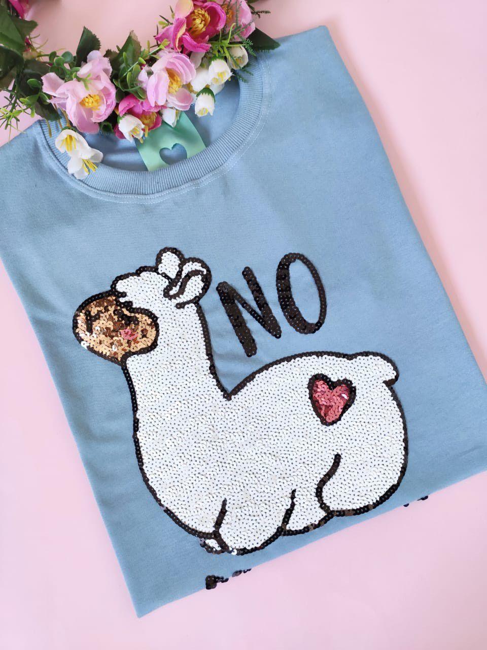 Camiseta No Prob-Llama Azul