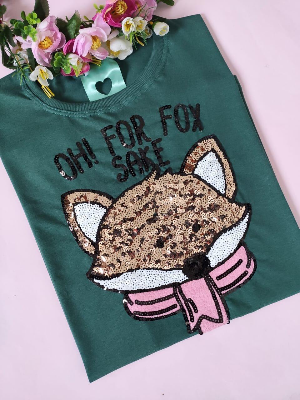 Camiseta Oh! For Fox Sake Verde