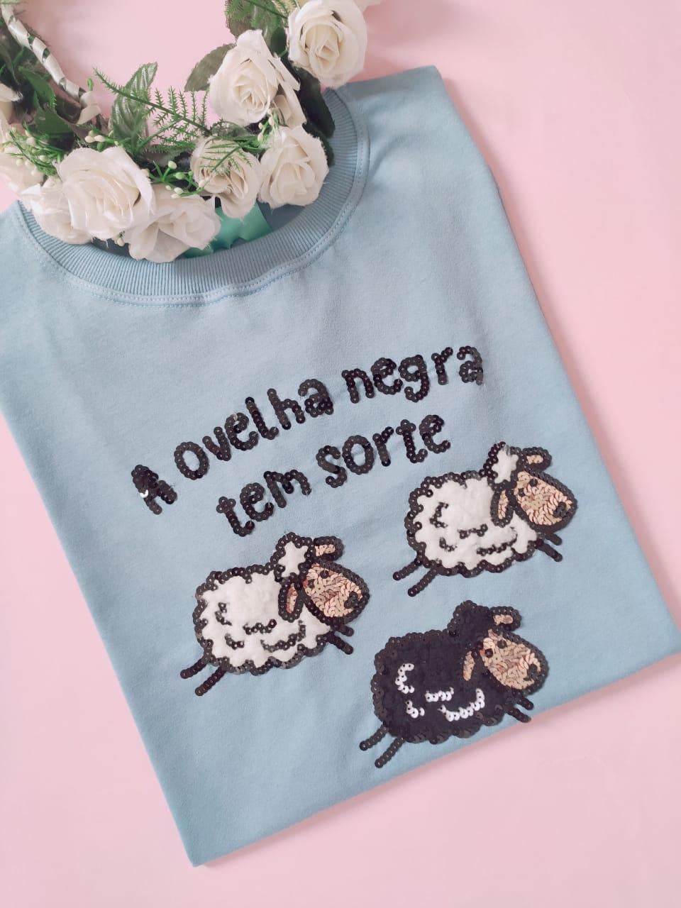 Camiseta Ovelha Negra Azul