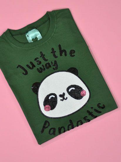 Camiseta Pandastic Verde